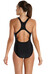 speedo Endurance10 Sports Logo Medalist Swimsuit Women black/white